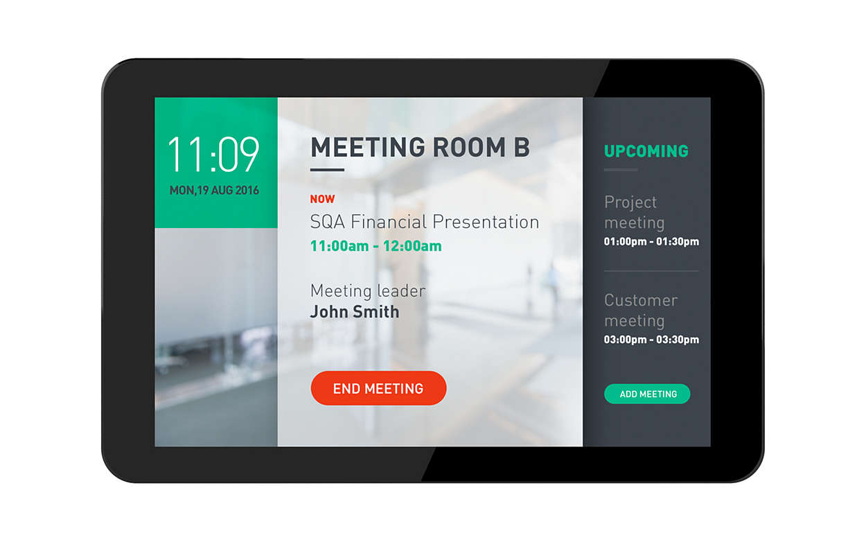 Digital Room Signage with viewneo and Philips Signage Solutions Multi-Touch Display